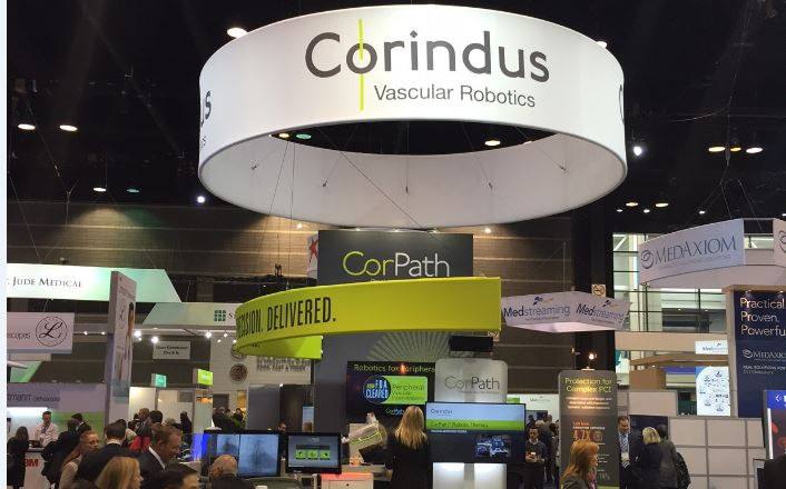 corindus booth at acc